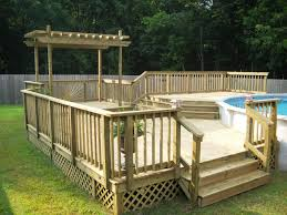 A Decks For Above Ground Pools  Resin Deck Pool
