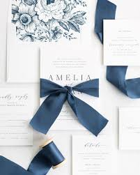 Amelia Ribbon Wedding Invitations Shine Wedding