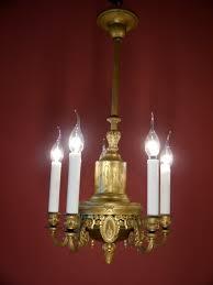 Sac A Perle 5 Fl Empire Kronleuchter Antik Ursprünglich