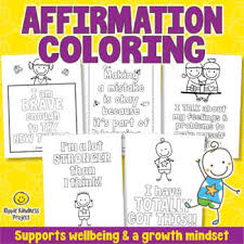Read the blog to know how to teach colors to kids. Positive Mindset Coloring Pages Worksheets Teaching Resources Tpt