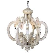 trendy white washed wood chandelier ii wash bead