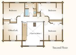 Logcabin Style House Plans  Plan 128284 Bedroom Log Cabin Floor Plans