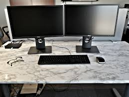 finished desk marble contact paper