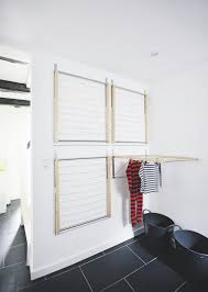 incorporating wall mounted clothes drying rack in the house blogbeen design 17