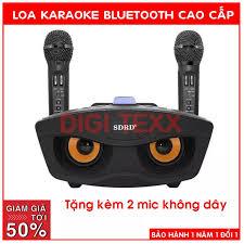 Mic karaoke kèm loa bluetooth SD306 tặng kèm 2 mic bluetooth thiết kế độc  lạ đi phượt loa con cú thông mình dùng 10 năm không bị rè liên hệ mua hàng