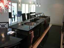Granite Top Kitchen Island With Seating Black Kitchen Island Table W Granite Top Drawers Best Kitchen