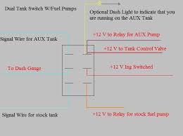 dual fuel tanks dodge ram ramcharger cummins jeep durango now for anyone who plans to do this on a non injected truck use the selector valve shown above and the following wiring diagram as you will not need the