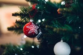 Close Up Of Christmas Tree Free Stock Photo