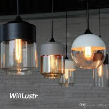 modern pendant lamp amber clear gray white black glass shade suspension lighting dinning living room bedroom hotel cafe light stained glass pendant light