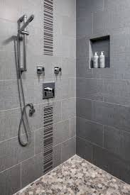 Walk In Tile Shower Best 25 Vertical Shower Tile Ideas On Pinterest Large Tile