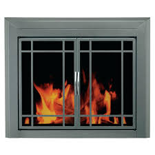 pleasant hearth fireplace doors sizing dimensions installation instructions