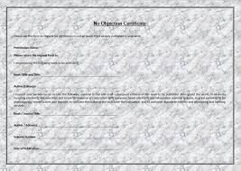 No Objection Certificate Format For Property Free Word