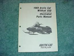 1992 arctic cat wildcat wildcat mountain cat snowmobile oem arctic cat 1989 parts manual wildcat 650 snowmobile oem 219