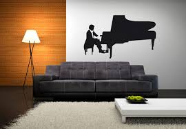 music  on grand piano wall art with piano player wall decal musical decor vinyl sticker