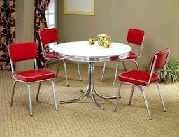 white round kitchen table. 5pcs retro white round dining table \u0026 4 red chairs set kitchen