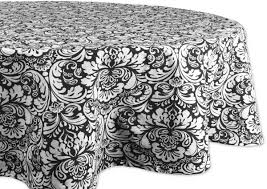dii 100 cotton machine washable everyday damask kitchen tablecloth for dinner parties summer outdoor picnics 70 round seats 4 to 6 people black