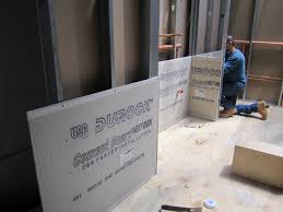 how to install cement backer board
