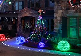 How To Make Outdoor Christmas Tree Out Of Lights Exterior Christmas Light Balls Pogot Bietthunghiduong Co