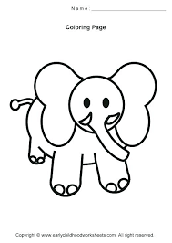 Simple Animal Coloring Pages Simple Animal Coloring Pages Elegant