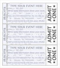 Free Ticket Template For Word Rome Fontanacountryinn Com