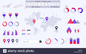 All World Charts Abstract Geometric World Map Most Popular Infographic