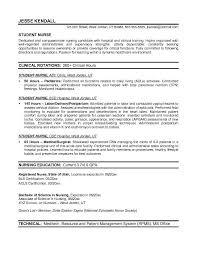 Resume For Nurses Custom Example Student Nurse Resume Free Sample Nursing School