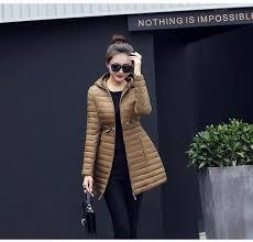 new female warm winter jacket women coat thin down cotton parka ultra light cotton padded jacket