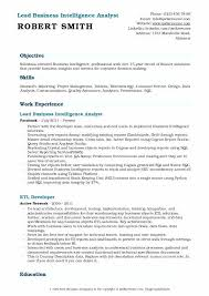Business Analytics Resume Sample Business Intelligence Analyst