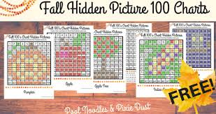 Fall Hundreds Chart Hidden Pictures Pool Noodles Pixie Dust