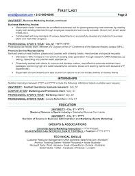 Sports Marketing Resume Samples Best Of Sports Resume Sports Resume Unforgettable Guest Service