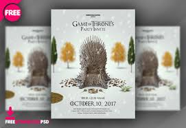 Download Game Of Thrones Party Invite Freedownloadpsd Com