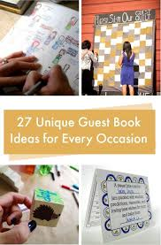 unique guest book ideas for every occasion