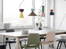 contemporary dining room lighting. Modern Dining Room Table Lighting With Glass Window And Flower Vase Contemporary