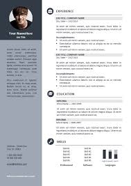 ... Orienta - Free professional resume CV template - Gray ...
