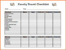 Family Vacation Checklist Template 5495
