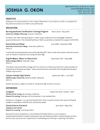 Entry Level Nursing Assistant Resume Free Resume Templates