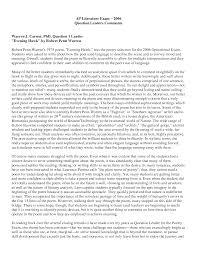 english literature sample essays central pic the best ap ap lit    ap lit essays sample ap ap english prose essay literature