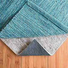 rugpadusa 9 x 12 1 4 thick basics felt rubber non slip rug pad softens rugs and prevents slipping won t mark or stain floor finishes with