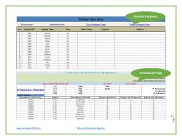student database template school attendance register template124