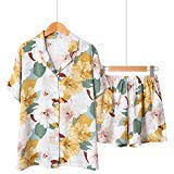 3pcs Suits Fresh Short Sleeve Pyjamas <b>Women Summer</b> 100 ...