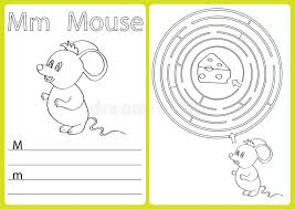 alphabet a z puzzle worksheet exercises for kids coloring book stock vector