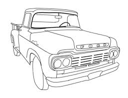 59_stepside old pickup truck coloring pages, old truck coloring pages on jacked up truck coloring pages