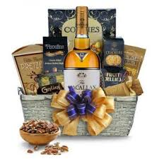 macallan 12 year double cask scotch whisky gift basket