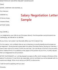 job offer salary job offer negotiate salary negotiation letter sample visualize