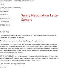 Job Offer Negotiate Salary Negotiation Letter Sample Visualize