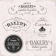 Vintage Bakery Labels Vector Illustration Printables Bakery