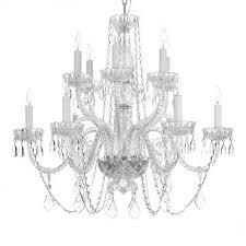 venetian style 12 light crystal chandelier