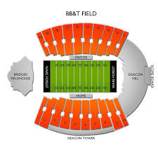 Wake Forest Stadium Seating Chart Bb T Field Tickets Wake Forest Demon Deacons Home Games