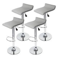 Low profile bar stools Info Image Is Loading New4pcsgraymodernbarstoolswivel Mega Saver Shop New Pcs Gray Modern Bar Stool Swivel Chair Pub Counter Low Profile