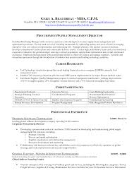 Sample Resume For Procurement Officer Samples Ideas Chief Cover